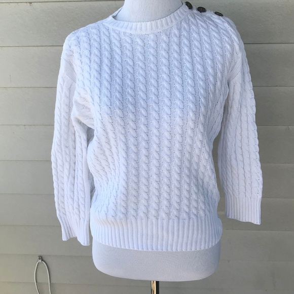 c1a7769d2de9b2 Burberry Sweaters   Womens Cotton Crew Cable Knit Sweater   Poshmark